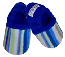 Toddler No Slip Fleece Slippers ~ Choose Size/Color (7/8 (2-3 years), Dylan Blue)