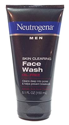 Best Cheap Deal for Neutrogena Men Skin Clearing Face Wash Oil Free Cleans Deep Into Pores and Helps Prevent Breakouts 5.1 Oz. (1 Each) from neutrogena corporation - Free 2 Day Shipping Available