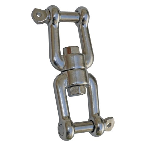 """Marine Jaw/jaw Swivel 3/8"""" Anchor Chain Connector for Boat . Stainless Steel. Five Oceans"""