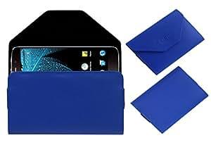 Acm Premium Pouch Case For Swipe Elite Plus Flip Flap Cover Blue