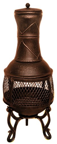 85cm Chimnea / Chiminea / Chiminea Patio Heater Bronze