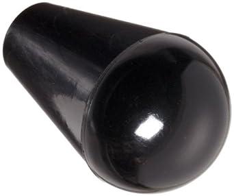 "DimcoGray Black Phenolic Ball Tapered Knob Female, Brass Insert: 5/16-18"" Thread x 7/16"" Depth, 1"" Diameter x 1-5/8"" Height x 1/2"" Hub Dia"