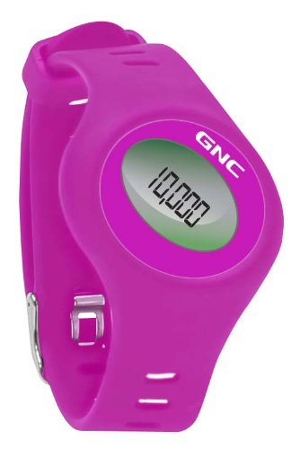 GNC Bluetooth Waist Clip and Watch Band Pedometer, Raspberry
