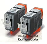2 Black Compatible Printer Ink Cartridges for Canon Pixma iP4000