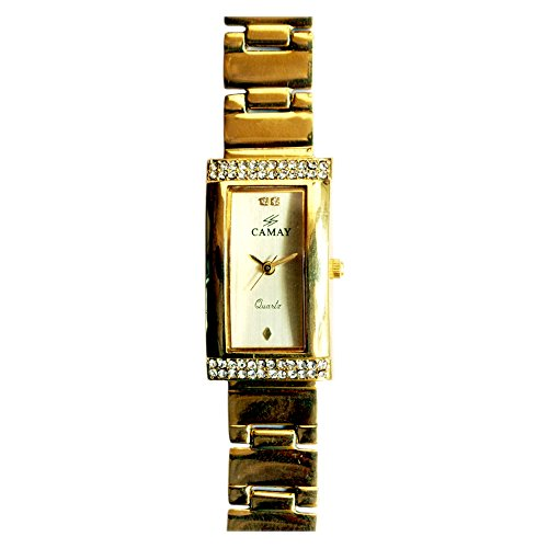 Swatch Camay IPG Analogue Gold Dial Women's Watch - Princess - 8 IPG (Yellow)