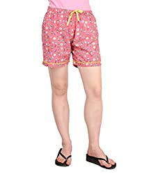 Lenora Women's Cotton Boxers (LN3012P_Multi_Large)