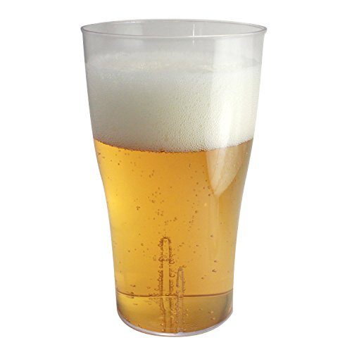Enimay 16 oz. Plastic Beer Pint Glasses Party 10 Pack - 1