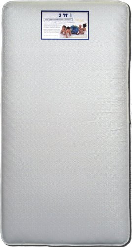 Colgate 2-N-1 Innerspring Crib and Toddler Mattress with Waterproof Cover, White