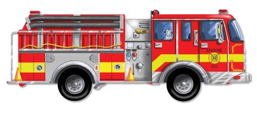 Cheap Fun Melissa & Doug Giant Fire Truck Floor Puzzle (B000084JMC)