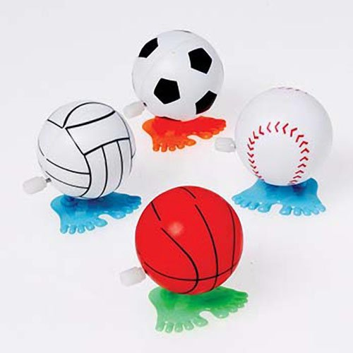 Wind Up Hopping Sports Balls(single unit)