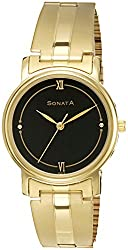 Sonata Analog Black Dial Mens Watch - NF1013YM25