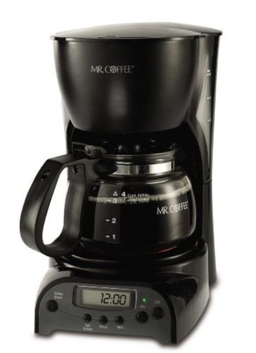Hot Bestseller Mr. Coffee 4-Cup Programmable Coffeemaker DRX5, Black, New, (Mr Coffee Grinder Cup compare prices)