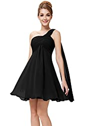 Ever Pretty NWT One Shoulder Ruffles Padded Bridesmaid Dress 03537
