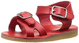 Baby Deer Double Strap Walker with Buckles Open Toe Sandal (Infant/Toddler), Red, 2 M US Infant