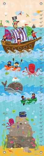 "Oopsy Daisy Growth Chart, Swashbuckling Good Time, 12"" x 42"""