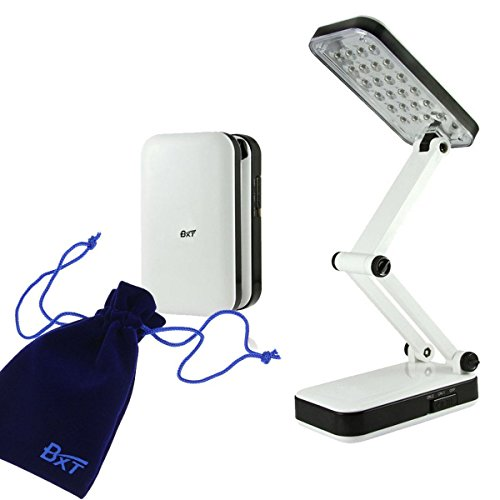 Greenery*/Portable Eye Protection Led Desk Lamp,Reading Light,Foldable &Rechargeable,2 Brightness Settings (White, 24 Leds) Package Includes: 1 *Portable Foldable Led Desk Lamp 1 *Power Cord