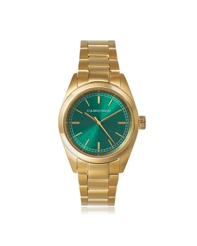 Cabochon Women's CABOCHON-515 Gold-Tone/Green Stainless Steel Watch