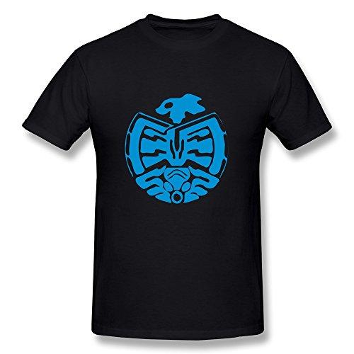 Hd-Print Men'S T Shirt Sea King Beast Tattoo L Black