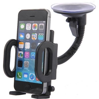 Car Gadgets Universal Handy 360 Degree Rotary Car Windshield Mount Holder for w/Suction Cup for iPhone / GPS / MP4 + More - Black