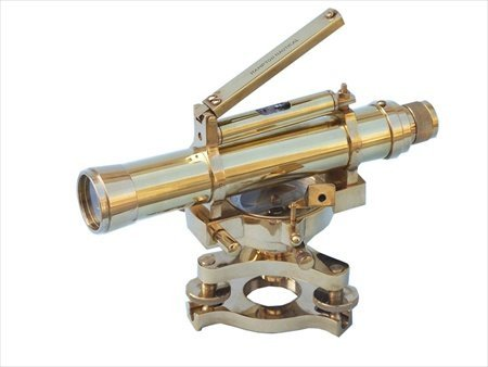 Handcrafted Model Ships Li-1516 Brass Dumpy Level Top Bubble 7 In. Telescopes Decorative Accent