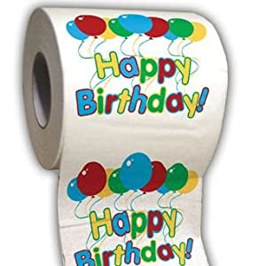 Happy Birthday Toilet Paper. Precio: $5.95