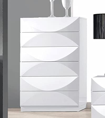 Chintaly Imports 8 Drawer Dresser, White