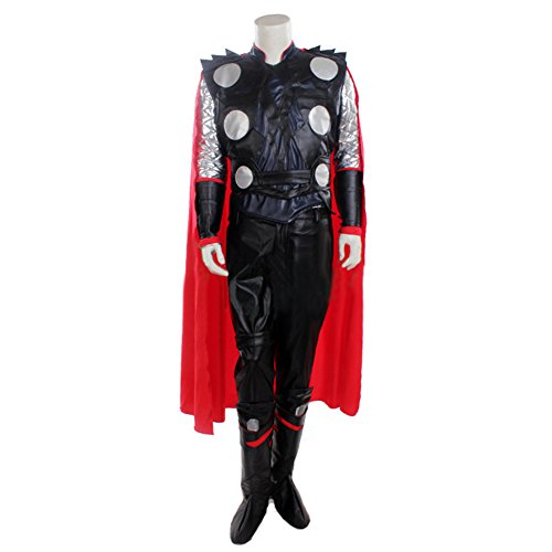 Halloween Deluxe Thor Cosplay Costume Cape & Outfit Suit for Adult