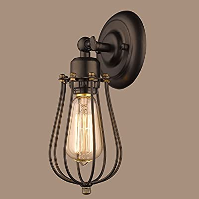 CLAXY® Ecopower Vintage Style Industrial Mini Wire Cage Wall Sconce