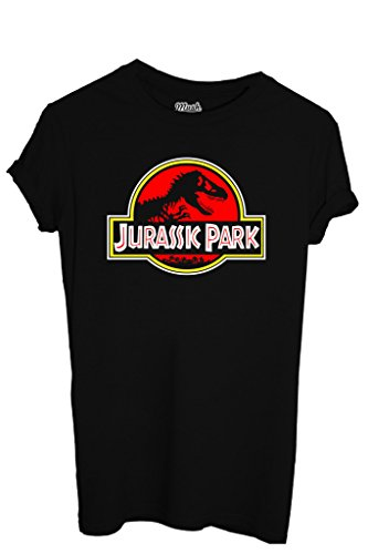 T-Shirt JURASSIC PARK LOGO - FILM by iMage Dress Your Style - Uomo-M-NERA