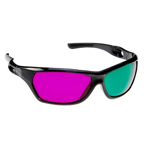 GTMax 3D Magenta/Green Glasses for watching 3D