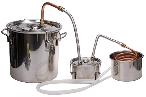 5 Gal Home Brew Distiller,KMM Stainless Moonshine Alcohol Still/Spirits Boiler(Distilled Water Filter)#TB017