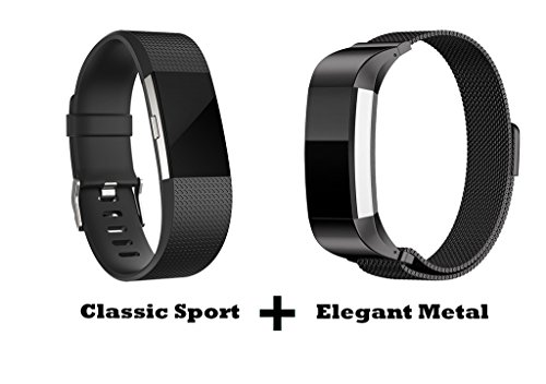 Humenn-Fitbit-Charge-2-Accessories-Bands-Sport-and-Metal-Replacement-Bands-Pack-for-New-2016-Fitbit-Charge-HR-2