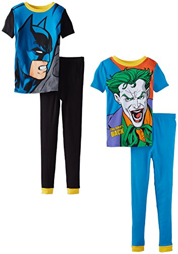 Komar Kids Big Boys' Batman 4 Piece Cotton Pajama Set at Gotham City Store