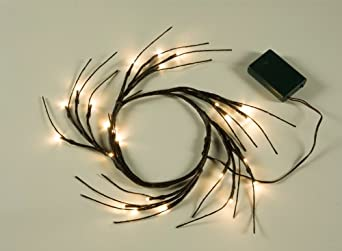 Lightshare Discount 24 LED Lighted Wreath,Diameter 9 Inch,Warm Light