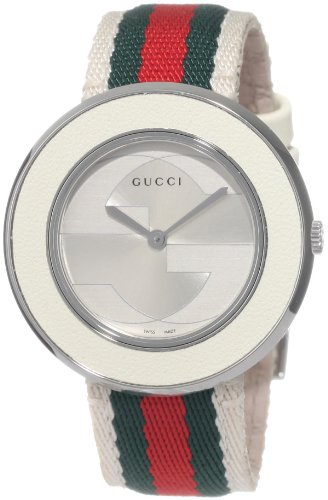 Gucci Women's YA129411 U-Play Medium White Nylon Watch