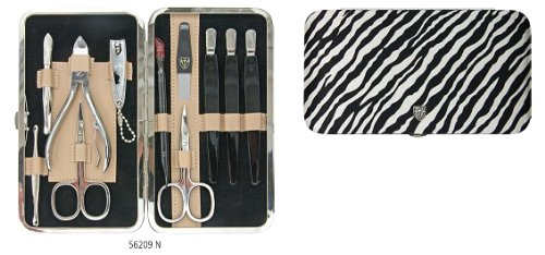 3 Swords - 11 Piece Manicure & Pedicure Case, made of complex Fashion-Material, Grade: Made in Solingen