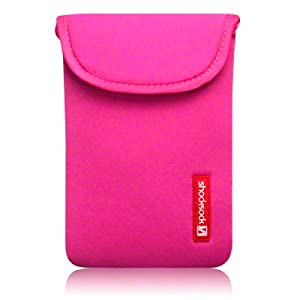 SAMSUNG GALAXY NOTE NEOPRENE POUCH / CASE / COVER / SKIN BY SHOCKSOCK - HOT PINK PART OF THE QUBITS ACCESSORIES RANGE
