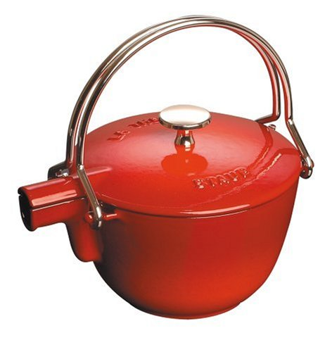 Staub 1 Quart Teapot, Cherry (1quart Cast Iron Pot compare prices)