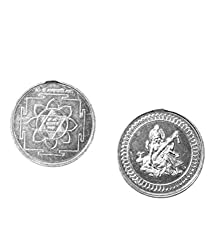 Saraswati Yantra Coin 10gms In Pure Silver 999 Blessed And Energised