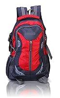 Suntop Neo 9 26 Ltrs Grey & Red Checks Unisex Backpack