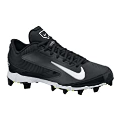 Buy Nike Youth Huarache Keystone Low Molded Baseball Cleats , Blk|Wht|Blk  by Nike Equipment, Inc
