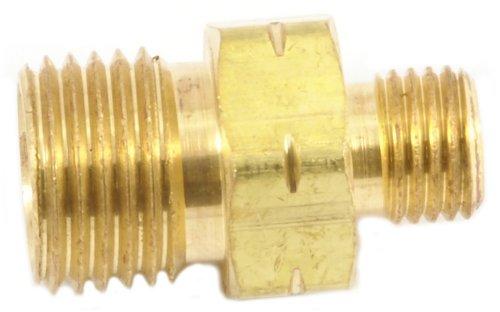 Forney 86151 Oxygen Acetylene Brass Fitting, Acetylene Hose Coupler, Adapter B To A Acetylene Side