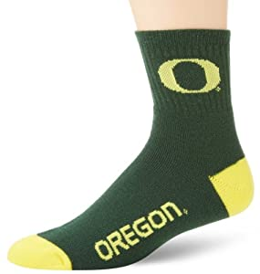 Oregon Ducks Team Color Quarter Socks by For Bare Feet