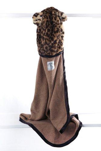 Little Giraffe Luxe Leopard Towel, Espresso