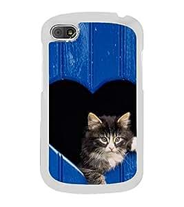 Cute Kitty 2D Hard Polycarbonate Designer Back Case Cover for BlackBerry Q10