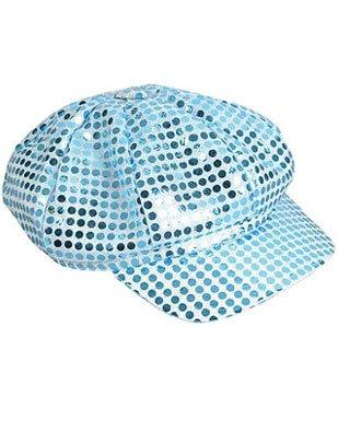 Blue Costume Sequin Newsboy Baseball Hat
