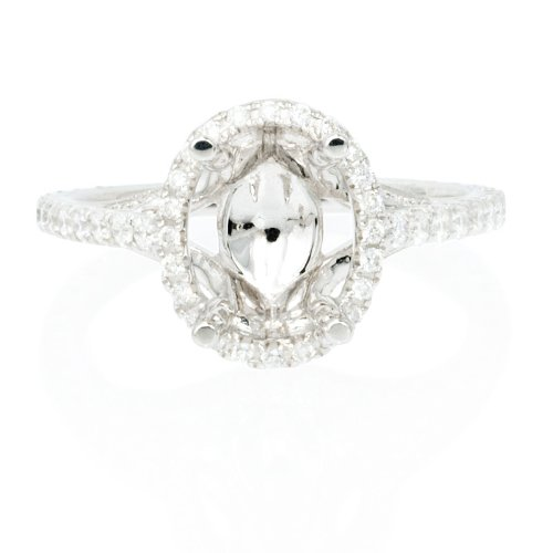 white gold antique ring settings