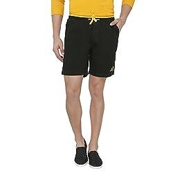 Origin Green Cotton Solid Shorts for Men
