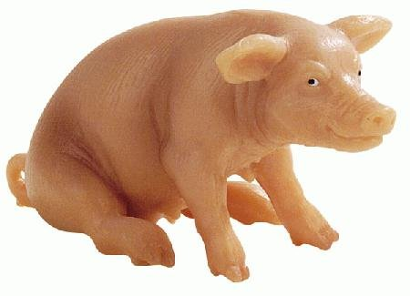 Bullyland Sow Sitting Plastic Toy Figure - 1