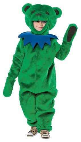 Rasta Imposta Boys' Grateful Dead Dancing Bear Costume Green Medium
